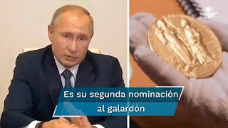 """El escritor Serguéi Komkov dijo que propuso al presidente ruso por que """"Putin hace el máximo esfuerzo en mantener la paz en su país y en todo el planeta"""""""