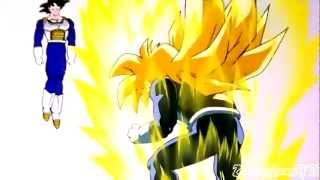 Gohan goes SSJ for the first time [720p HD]