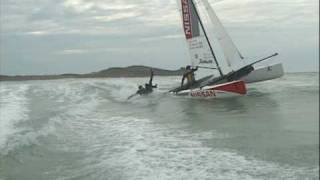 Hobie Cat Sailing in Surf (Hobie Tiger Pro-Team)