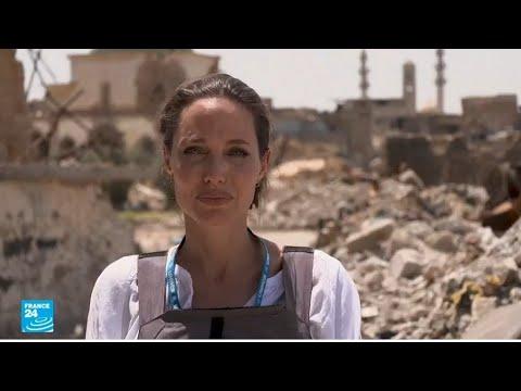 أنجلينا جولي تتفقد مخيمات اللاجئين السوريين في الموصل وكردستان العراق  - نشر قبل 3 ساعة