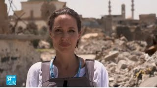 أنجلينا جولي تتفقد مخيمات اللاجئين السوريين في الموصل وكردستان العراق