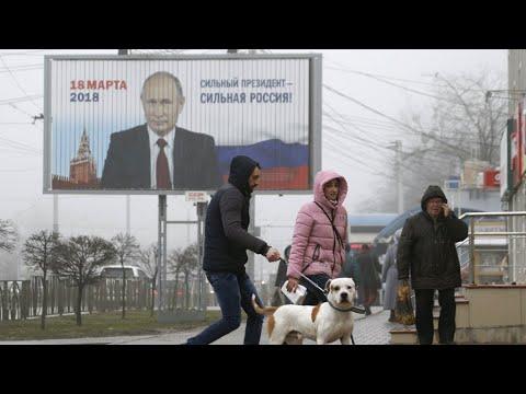 Vladímir Putin se perfila como vencedor de las elecciones presidenciales en Rusia