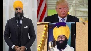 Jagmeet Singh CONDEMNS Trump & NOT Air India Bomber (Alleged) Talwinder Singh Parmar Posters