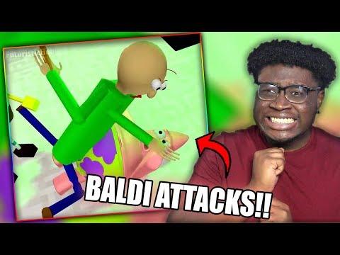 BALDI ATTACKS PATRICK STAR! | BALDI'S BASICS VS SPONGEBOB Minecraft Animation Reaction!