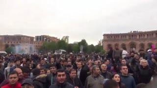 21.04.18 Ցույցեր Սերժ Սարգսյանի վարչապետության դեմ․ օր 9