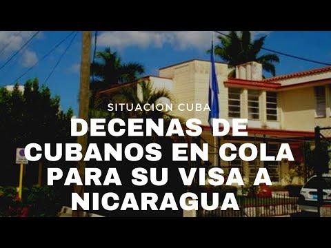 IMPRESIONANTE!!! DECENAS DE CUBANOS FRENTE A EMBAJADA DE NICARAGUA EN LA HABANA PARA OBTENER VISA