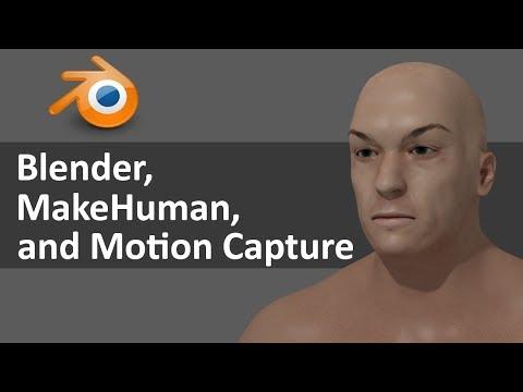 Blender, MakeHuman, and Motion Capture files