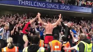 Chelsea vs Huddersfield Town after match celebrations