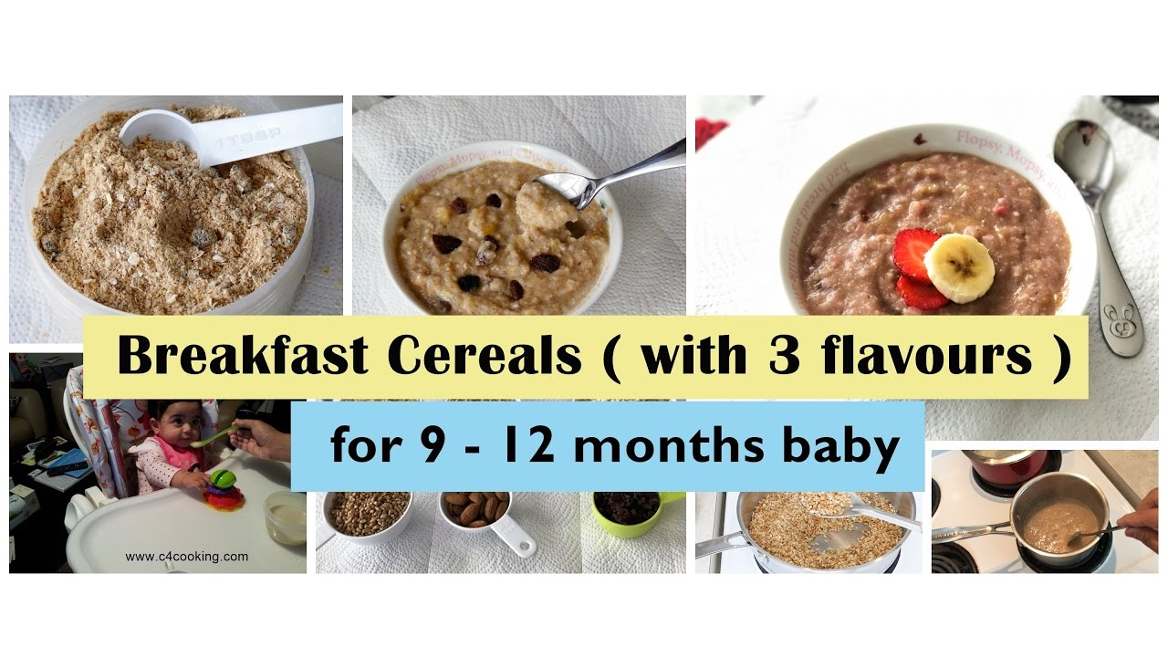 Breakfast Cereal For 9 12 Months Baby With 3 Flavours