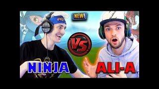 NINJA VS ALI A EPIC GAMER BATTLE *OMG* FORTNITE EPIC COMPLETION