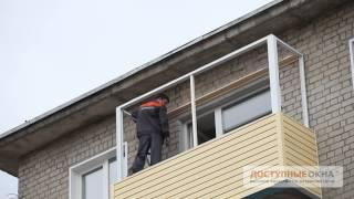 видео Как обшить балкон или лоджию, мастер класс