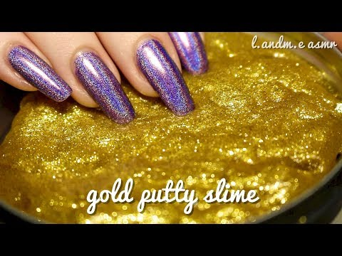 ASMR 💆 || GOLD PUTTY SLIME (Crazy Aaron's Thinking Putty) || 20MINS || no talking 🤐 ||
