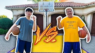 RICEGUM vs PAPA RUG BASKETBALL 1v1 !!