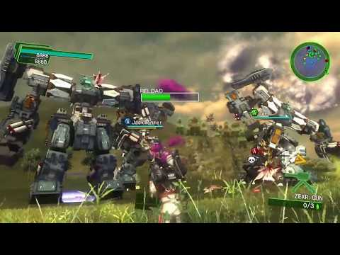 EDF Earth Defense Force 4.1 Online Mission 70 Mountain Liberation [4x Air Raider] Inferno