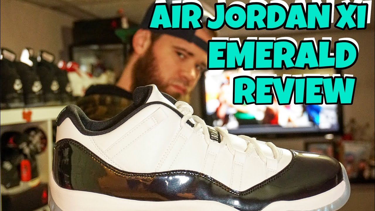 c519ff5246e AIR JORDAN XI EMERALD (EASTER COLOR WAY) REVIEW - YouTube