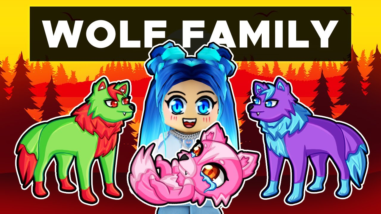 Our WOLF FAMILY in Roblox!