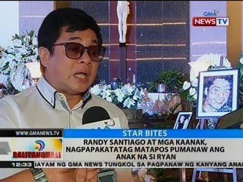 BT: Randy Santiago at mga kaanak, nagpapakatataga matapos pumanaw ang anak na si Ryan