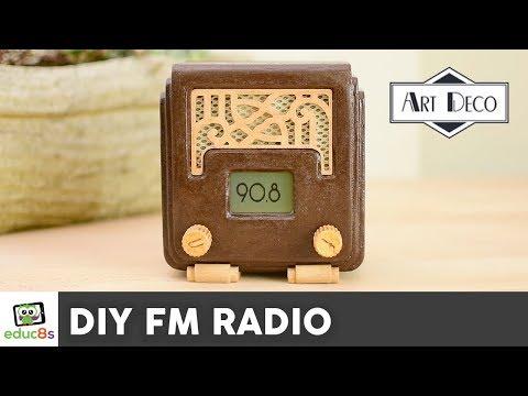 DIY Arduino FM Radio Project with a 3D printed Art Deco enclosure