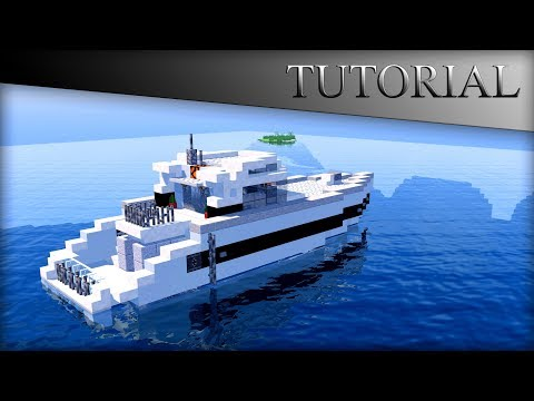 MINECRAFT MODERN BOAT HOUSE TUTORIAL! YACHT/SPEED BOAT!