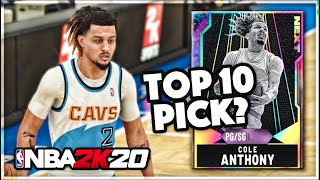 GALAXY OPAL COLE ANTHONY!! A GOOD Card But Is TOO SMALL To Play In NBA 2k20 MyTEAM!!