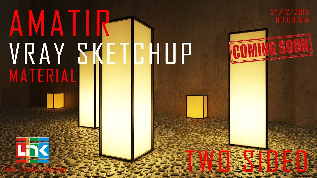 Sketchup Vray - TWO SIDED MATERIAL - Light Tutorial