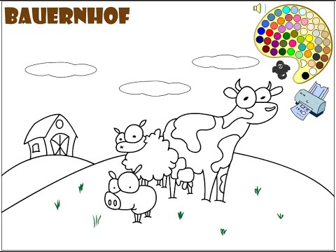 farm coloring pages for kids farm coloring pages