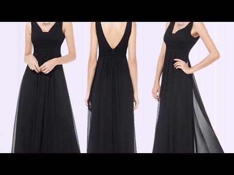 Красивые черные платья. Длинные черные платья в пол. Фото