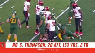 SaRodorick Thompson Highlights: Texas Tech vs. No. 22 Baylor   Stadium