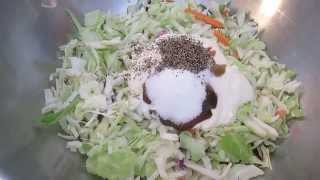 Coleslaw - Easy 2 Minute Recipe - Poormansgourmet