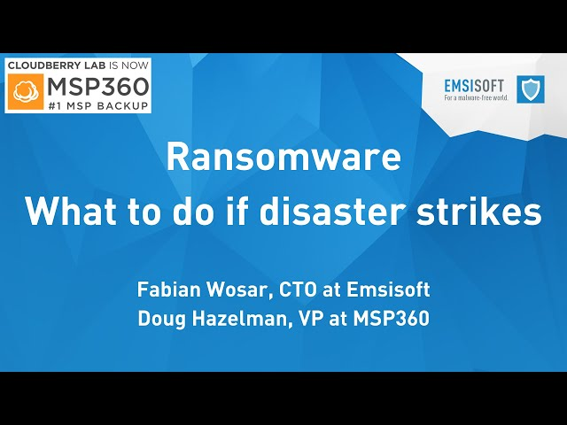 Webinar | Ransomware: What to do if disaster strikes?