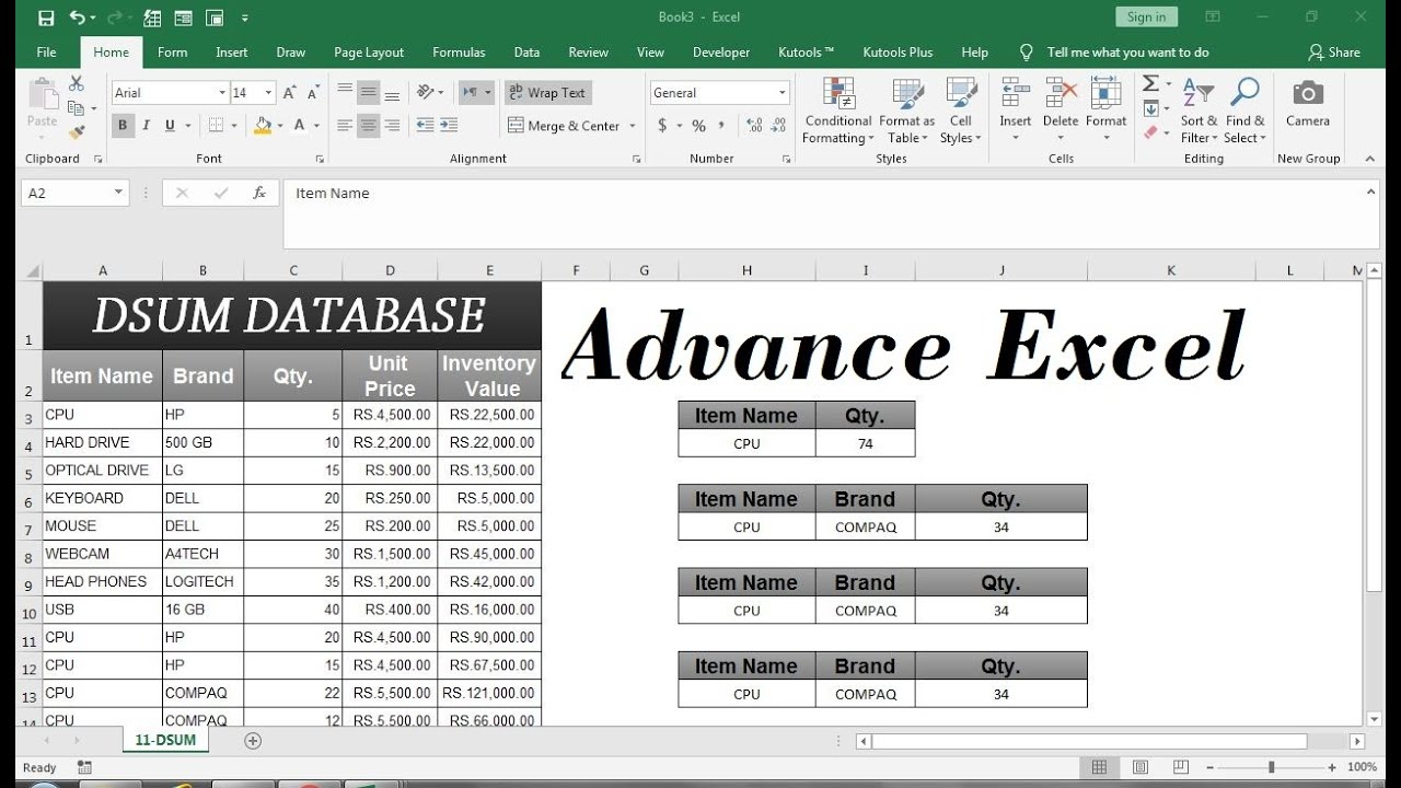 advanced excel functions for data analysis