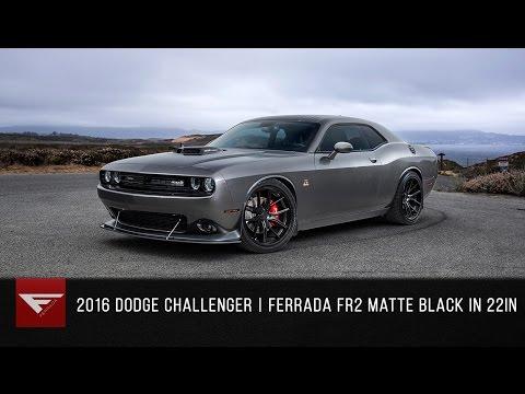 2016 Dodge Challenger SRT Scatpack | Ferrada FR2 Matte Black / Polished Black Lip
