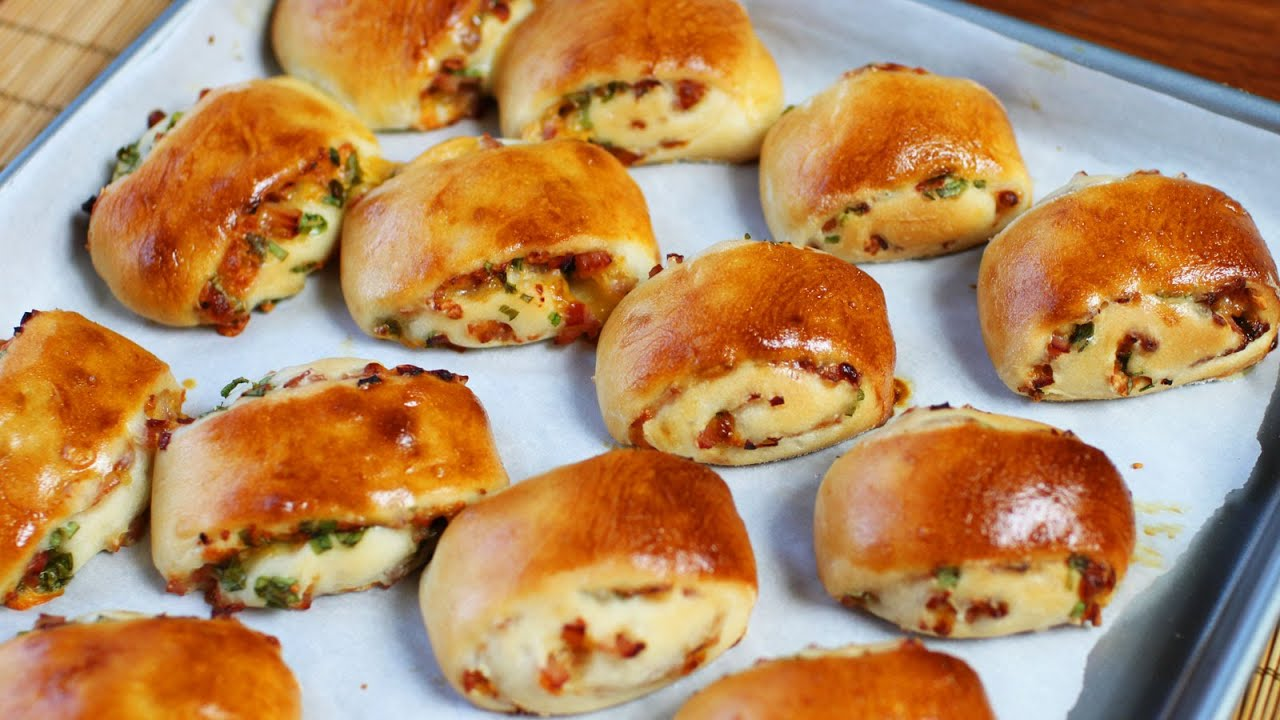 Baked Ham and Cheese Rolls Recipe - YouTube