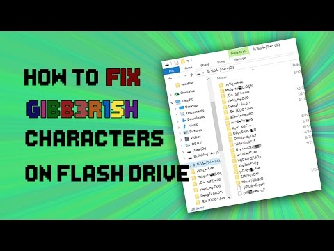 HOW TO FIX GIBBERISH CHARACTERS ON YOUR FLASH DRIVE