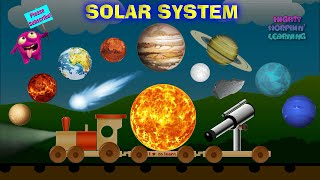 Kids Learn Our Solar System | Planets & Space For Children | Mighty Morphin' Learning Train