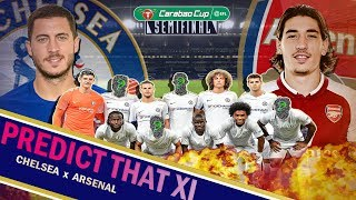 Chelsea vs Arsenal Carabao Cup 1/2 Final Predicted Line Up || Conte to pick a strong Chelsea team.