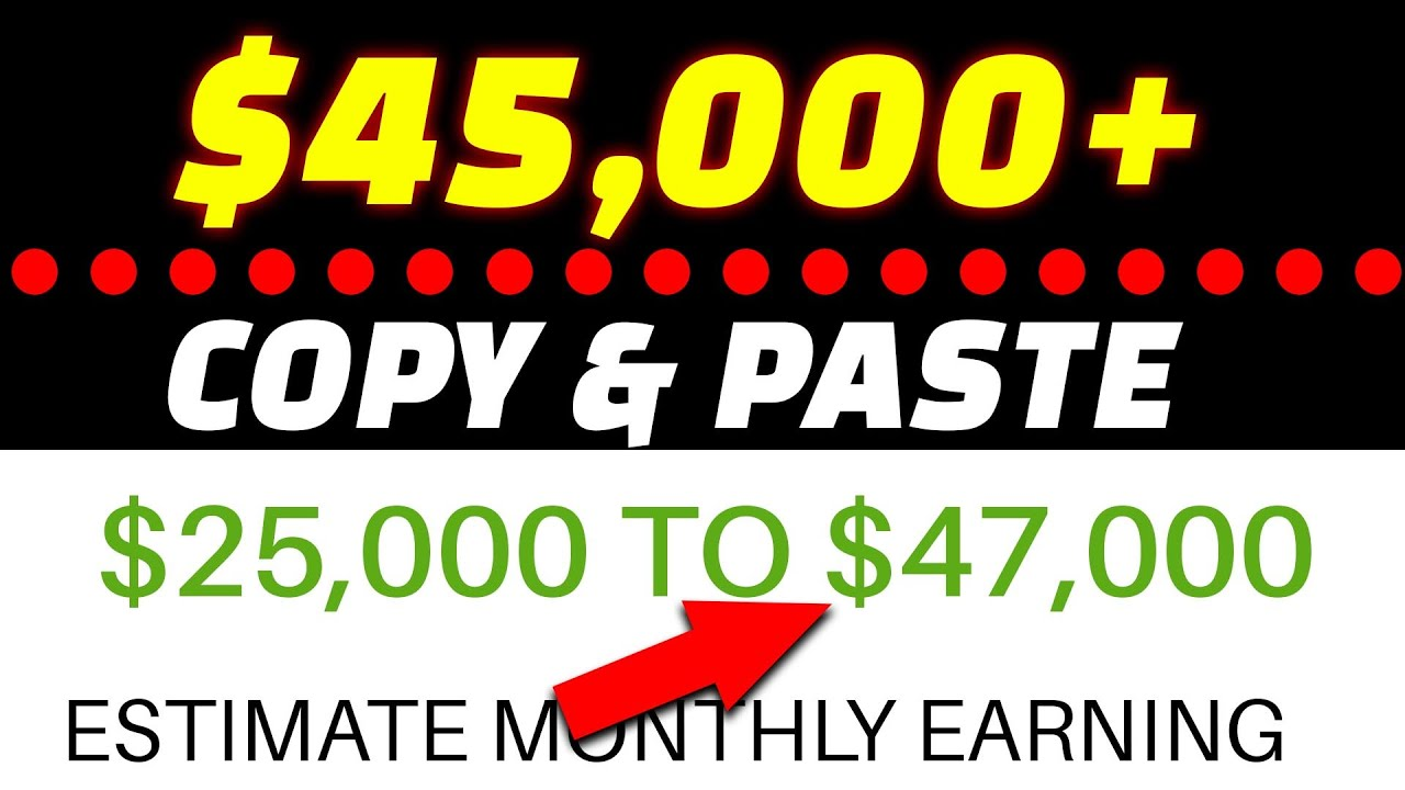 Make $45,000+ PER MONTH ON YOUTUBE For Copy & Paste Videos *NEW NICHE* [Make Money Online]