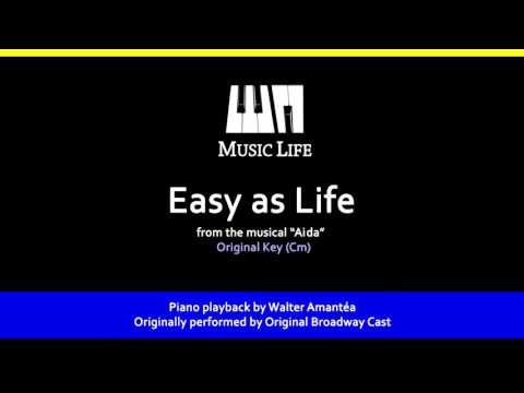 Easy As Life (Aida) - Piano playback for Cover / Karaoke