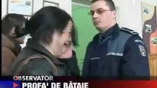 Rumuńska nauczycielka VS policjant.