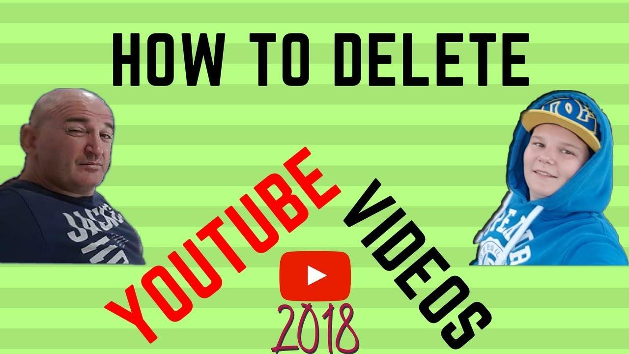 how to delete youtube account 2018