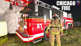 CHICAGO FIRE TRUCK 81 - FL FIRE DEPARTMENT FLASHING LIGHTS GAME