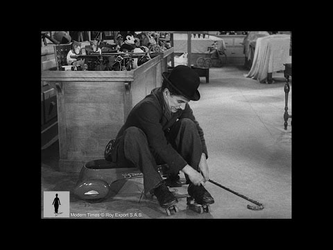 Charlie Chaplin  Modern Times  Roller Skating
