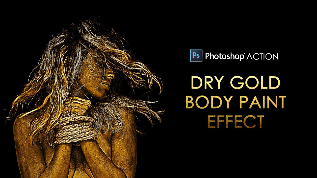 Photoshop Action: Dry Gold Body Paint Effect for Dramatic Portraits - Free  Download