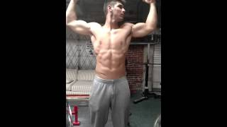 18 year old flexing gym warriors training