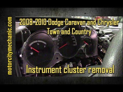 2008-2010 Dodge Grand Caravan and Chrysler Town and Country instrument cluster removal.