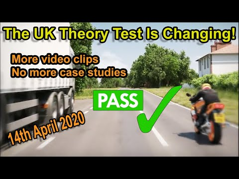The UK Theory Test Is Changing On 14th April 2020 | More Video Clips, No More Case Studies.