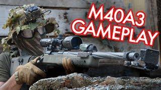 SSG24 - M40A3 Airsoft Sniper Gameplay