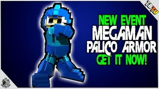 NEW PALICO ARMOR! HOW TO GET THE PALICO MEGA MAN FULL ARMOR SET! Monster Hunter World Events
