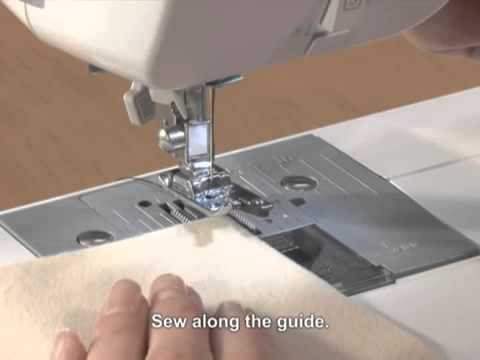 Brother Domestic Sewing Machine Overlock Foot Tutorial YouTube Awesome Brother Xn2500 Sewing Machine