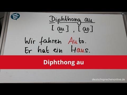 Deutsch: Aussprache Diphthong au